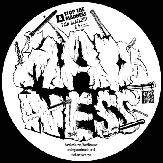Record centre label
